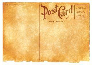 blank vintage postcard   sepia grunge