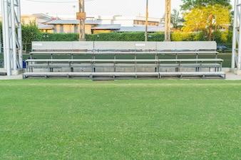 Bleacher in the soccer field