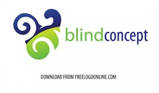 Blind concept logo vector set
