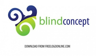 Blind concept logo vector set