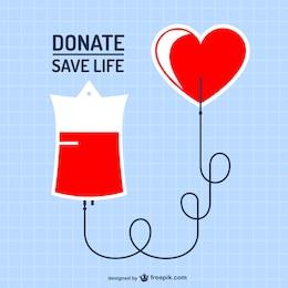 Blood donation vector art