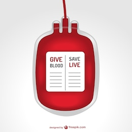 Blood transfusion bag illustration