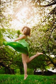 Blooming divine emotion brunette tenderness