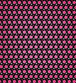 Blossom petals seamless pattern