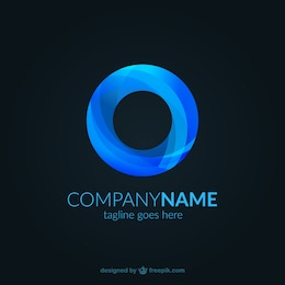 Blue abstract logo template
