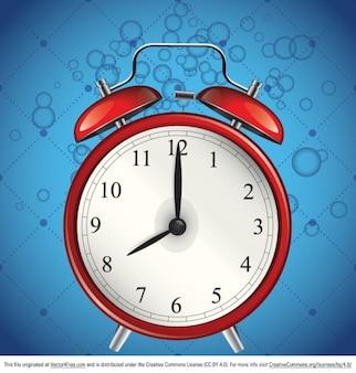 Blue alarm clock vector graphic