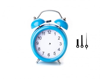 Blue alarm clock