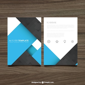 Blue and black brochure