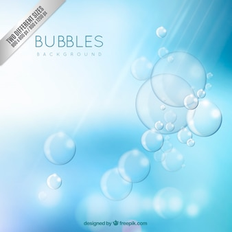 Blue and shiny bubbles background