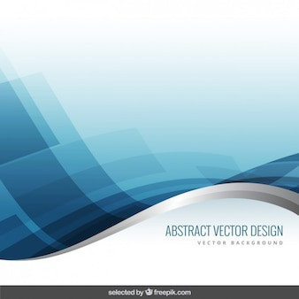 Blue and silver wavy background