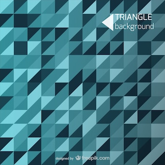 Blue background triangle shapes