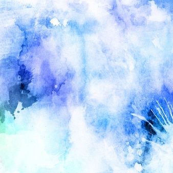 Blue background with watercolor