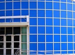 Blue Building, design