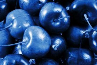 Blue cherries
