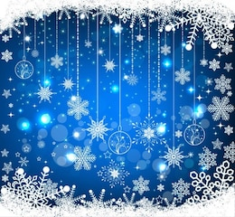 blue christmas vector background
