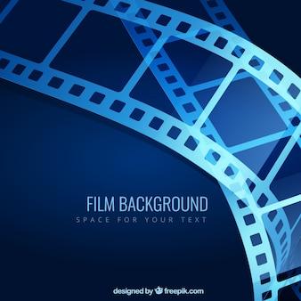 Blue film background