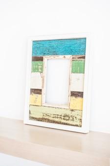 Blue frame on a desk