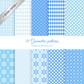 Blue geometric patterns