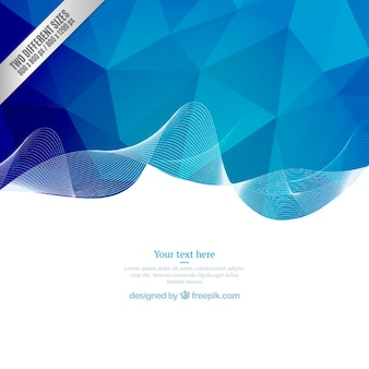Blue geometric wave background