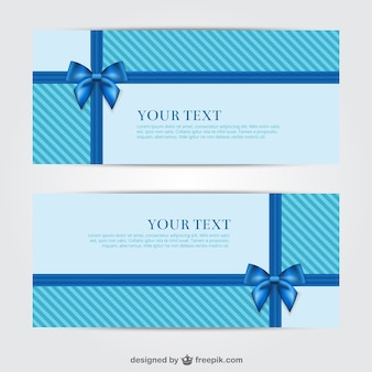 Blue gift banners for