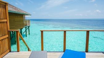 Blue house sea rest beauty
