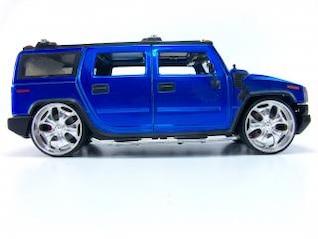 Blue hummer toy, h2