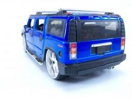Blue hummer toy