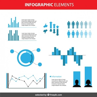 Blue infographic elements