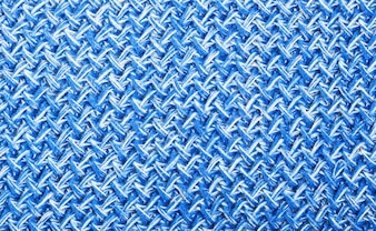 Blue knitting wool