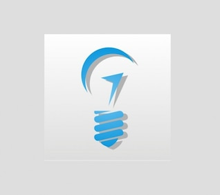 Blue light bulb graphic vector logo