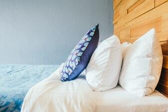 Blue luxury bedroom relax interior