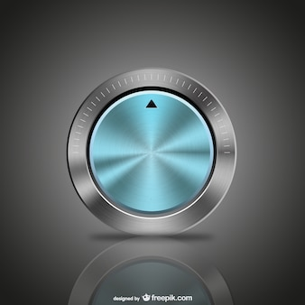 Blue metal button