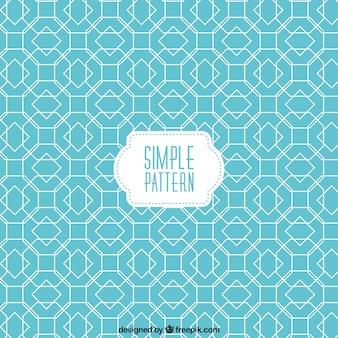 Blue pattern in geometric design