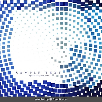 Blue pixels background in abstract style