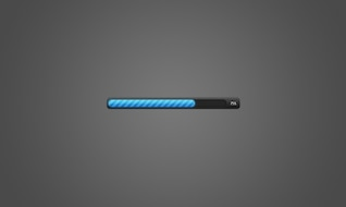 Blue progress bar PSD material