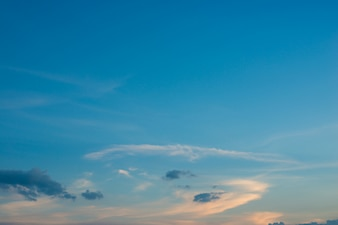 Blue sky with clouds at sunset