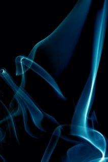 blue smoke  abstract