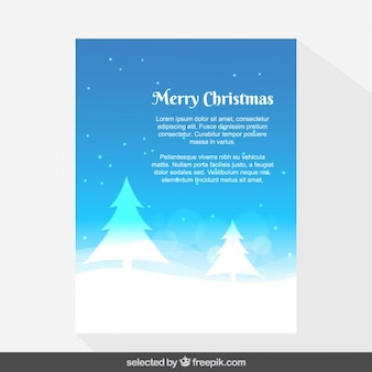 Blue snowy Christmas card