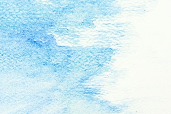 Blue stain in a white background