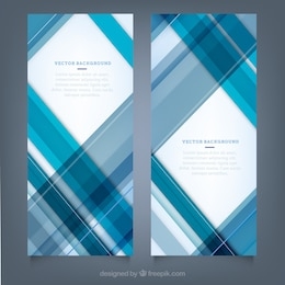 Blue stripes banners