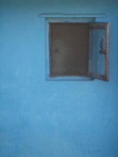 Blue window, wall