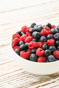 Blueberry and Rasberry fruit