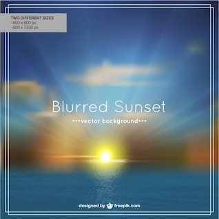 Blur beach sunset background