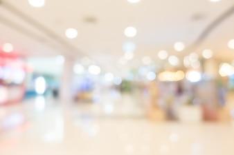 Blur shopping mall
