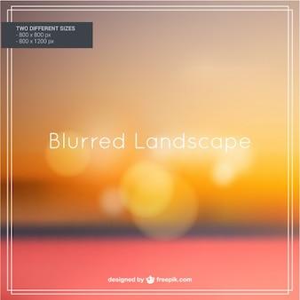 Blurred autumn landscape