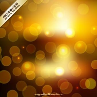 Blurred background in golden tones