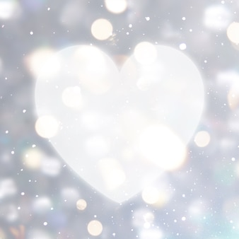 Blurred background with heart shape