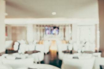 Blurred dining room of hotel