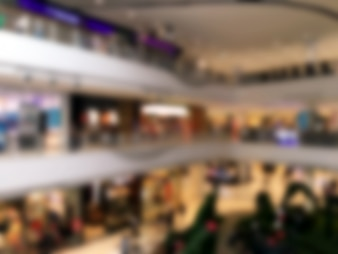 Blurred floors of a shopping center