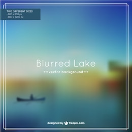 Blurred lake background vector